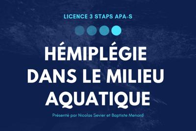 L'hémiplégie et le milieu aquatique